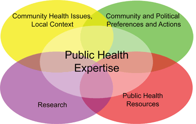 Evidence informed decision making in public health considers the