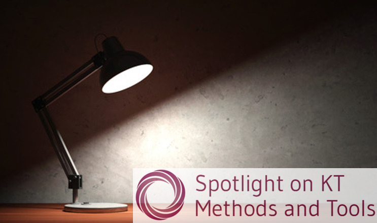 Spotlight on KT methods and tools