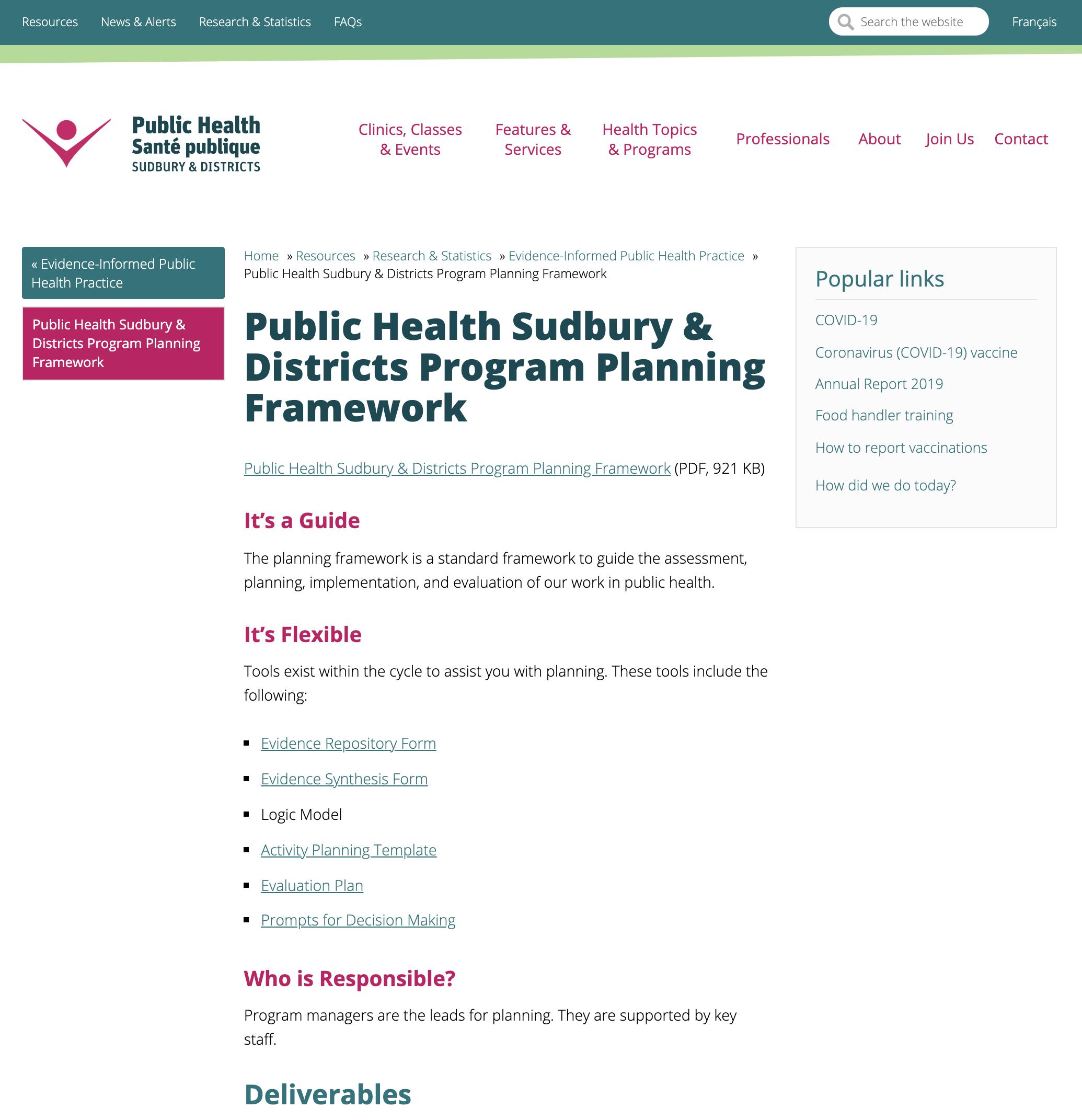 Public Health Planning Toolkit