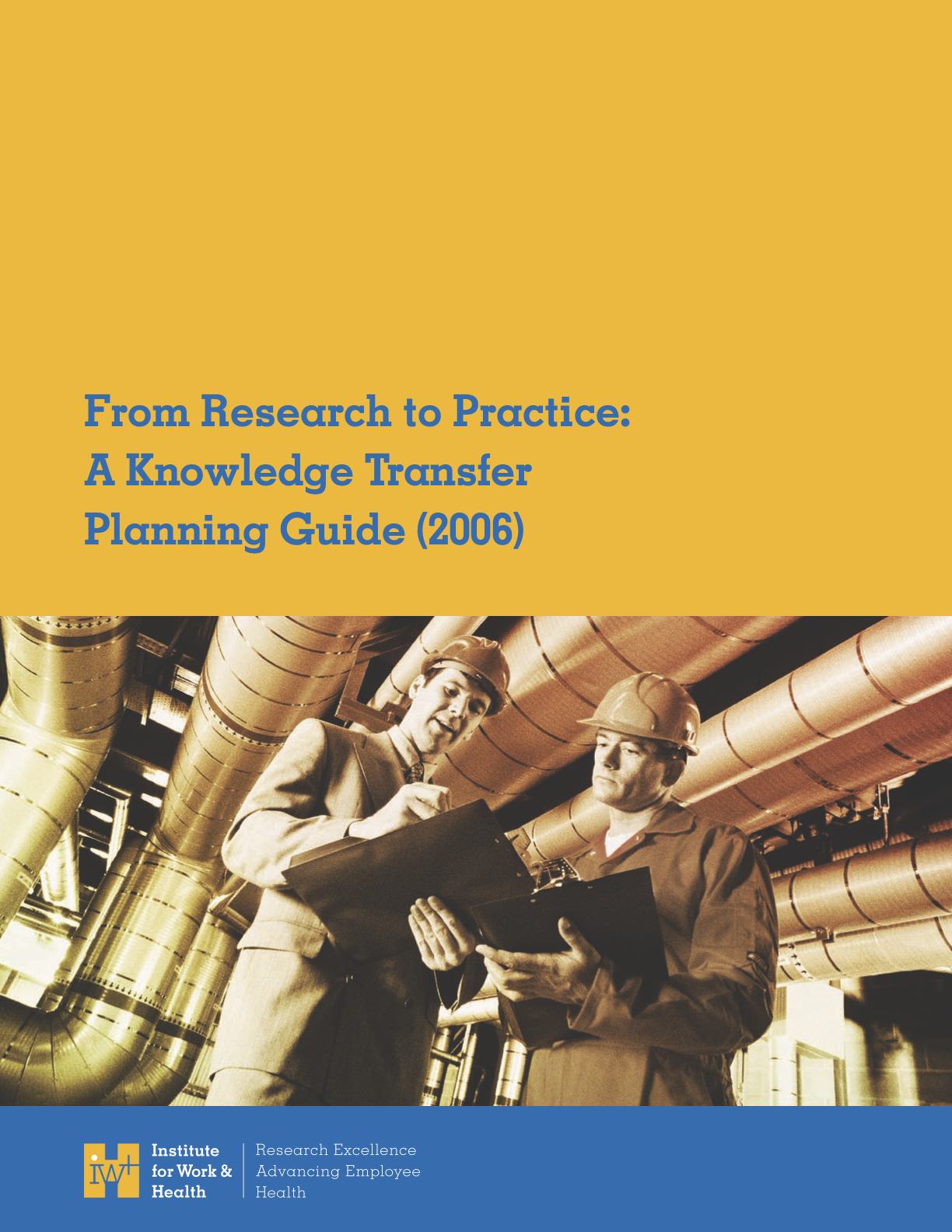 From Research to Practice: A Knowledge Transfer Planning Guide and Worksheets